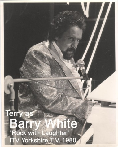 terry barry white b and w with text