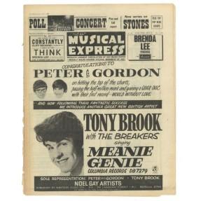 EMI RECORDING ARTISTE 1964 TONY (TERRY WEBSTER) BROOK